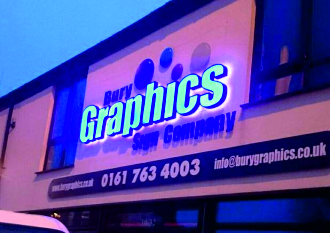 bury graphics led signs outdoor signs lit signs