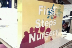 fi9rst-steps-nursery-light-box-signs-walshaw-bury-graphics