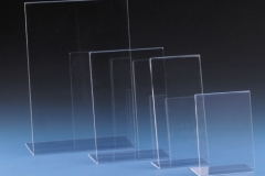 acrylic menu holders, table tops