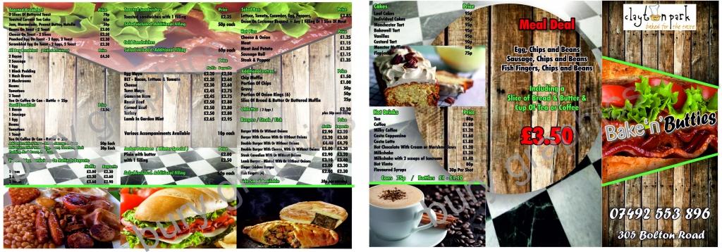 folded-leaflet-menu-cafe-bury-graphics